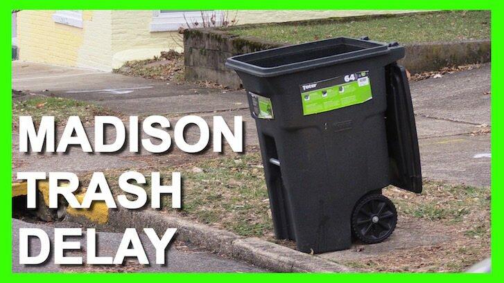 Frigid Temps Cause Madison Trash Delay